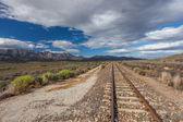 Railway Track Line Mountain Plateau — Zdjęcie stockowe