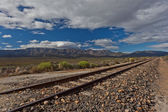 Railway Track Line Mountain Plateau — Stockfoto