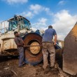 Stockfoto: Excavator Machine Mechanic's Repairs
