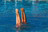 Aquatic Synchronized Swimming — Stock Photo