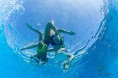 Aquatic Synchronized Swimming — Stock Photo