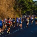 Ultra Marathon Runners Colors Sunrise — Stock Photo #37999867
