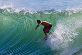 Surfing Summer Waves Action — Stock Photo