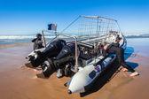 Scuba Dive Boat Shark Cage Diving — Stock Photo