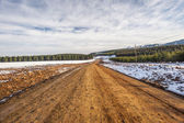Strada sterrata di montagna — Foto Stock