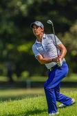 Golf Professional Matteo Manaserro Action — Stock Photo