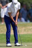 Golf Professional Matteo Manaserro Putting — Stock Photo
