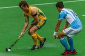 Hockey internacional argentina v-sudáfrica — Foto de Stock