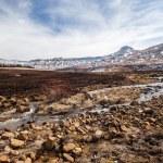 Mountains Snow Black River — Stock Photo #39395025