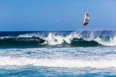 Kite Surfing Blue Sea — Stockfoto