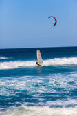 Kite Surfing Blue Sea — 图库照片