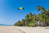 Skydiving Tandem Landing — Stock Photo