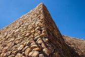 Stone Stacked Wall Construction — Stock Photo