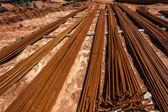 Steel Metal Rods Concrete Strength — Stock Photo