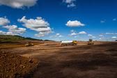 Breaking Ground Construction Machines — Fotografia Stock