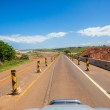 On-Ramp Entry Road Highway Construction — Stock Photo