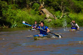 Canoe River Race Marathon — Stock Photo