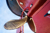 Steam Boat Brass Propellor — Stock Photo