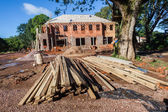 House Construction Brick Plaster — Stock Photo