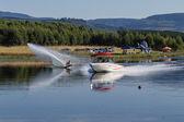 Water-Skiing Action Lake — Stock Photo