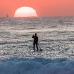 ������, ������: Surfer SUP Sunrise Ocean Horizon