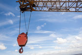 Crane Hoist Hook Engineering Rigging — Stock Photo
