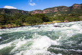 River Water Rapids Flowing Blue Power — Stock Photo