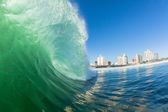 Hollow Wave Water Action Durban — Stock Photo