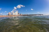 Durban's North Beach Sea waters beach pier — Foto Stock