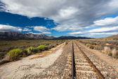 Train Track Countryside — Stockfoto