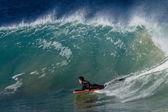 Surfing Wave Body-Boarder — Stock fotografie