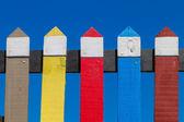 Colores pastel cerca de madera — Foto de Stock