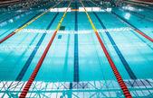 Olympic Swimming Pool Lanes — Stock Photo