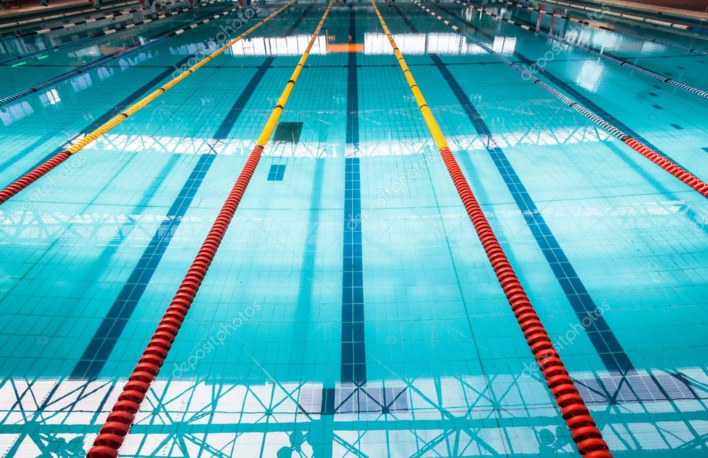 Olympic Swimming Pool Lanes Stock Photo 42427759