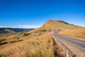Mountains Valleys Road Summer — Стоковое фото