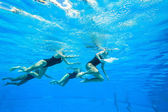 Synchronized Swimming Girls — Stock Photo