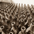 Постер, плакат: Bottles Dusty Stacked Sepia Tone