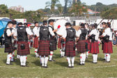 Scottish Pipers Drums Bands Gathering — Stock Photo