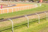 Horse Racing Poly Sand GrassTracks — Stock Photo