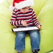 Little boy with tablet computer — Stock Photo