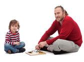 Vater und sohn spielen — Stockfoto