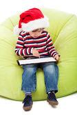 Little boy with tablet computer — Foto de Stock