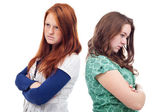 Teenagers conflict — Stock Photo