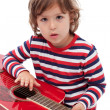 Little boy with  acoustic guitar — Lizenzfreies Foto