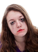 Depressive young girl — Stock Photo