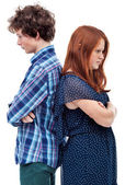 Hostile young couple — Stock Photo