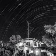 Startrails at my home,Thailand — Stock Photo