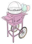 Algodón de azúcar carrito pasado de moda — Foto de Stock