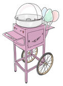 Cotton Candy Cart Old Fashioned  — Стоковое фото