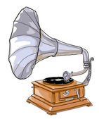 Phonographs and gramophones — Stock Photo